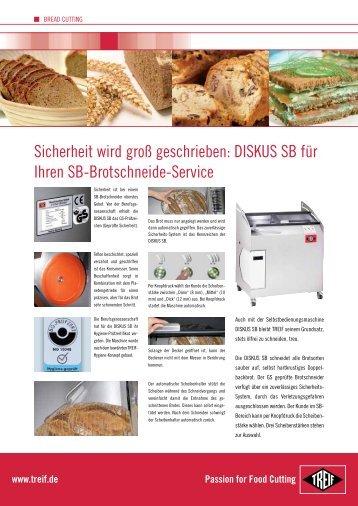 DISKUS SB für Ihren SB-Brotschneide-Service - Treif