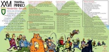 folleto travesia pirineo 2013 - SCDR Anaitasuna