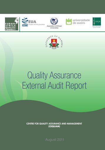 Quality Assurance External Audit Report - University of Namibia