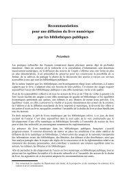 Recommandations pour une diffusion du livre numérique par les bibliothèques publiques