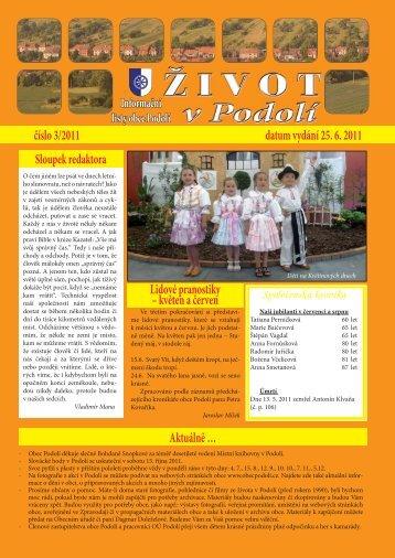 podolí 3-2011.indd - Obec Podolí