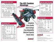 The AFX Combine Advantage - Centre Agricole.ca
