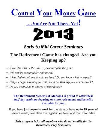 2013 Early to Mid-Career Seminars - University of Alabama System