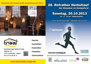 28. Refrather Herbstlauf Sonntag, 20.10.2013 - TV Refrath