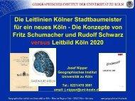 PowerPoint-Präsentation. - Geschichtswerkstatt Kalk