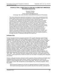 intercultural competence in one-way elementary ... - CERCLL