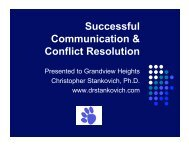 Successful Communication & Conflict Resolution - Grandview ...