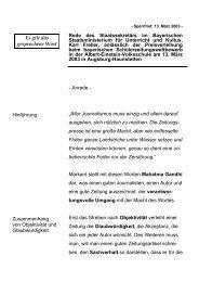 Rede anlässlich der Preisverleihung beim bayerischen ... - Freller, Karl