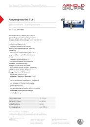 Absprengmaschine 71/61 - Arnold Gruppe
