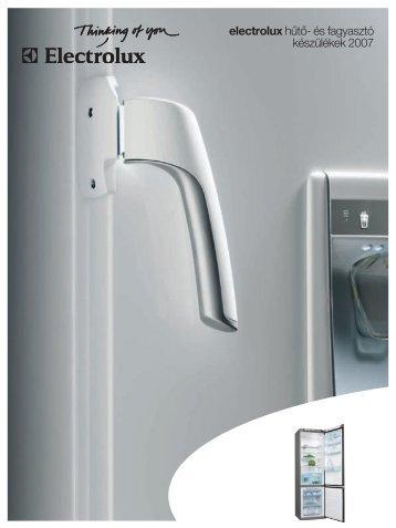 electrolux hűtő- és fagyasztó készülékek 2007