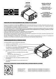 Instrucciones AKOR - Soler & Palau Sistemas de Ventilación, SLU