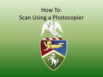 Scanning to Email from a Photocopier