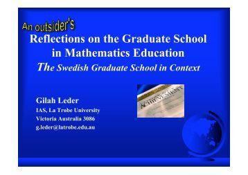 Graduate School for Mathematics?