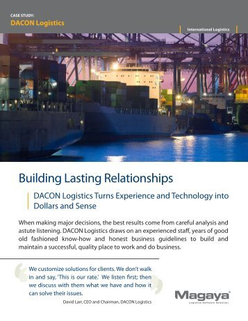 DACON Logistics - Magaya