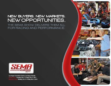 FOR RAcIng AnD pERFORMAncE. - SEMA Show
