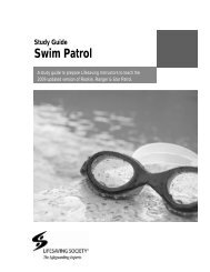Swim Patrol Study Guide - Lifesaving Society
