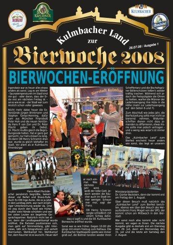 Die Damen und Herren der KULMBACHER ... - Bierfestzeitung