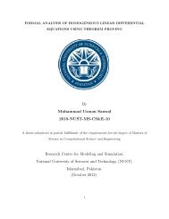 Formal Analysis of Homogeneous Linear Differential Equations ...