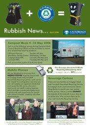 Rubbish News... April 2008 - Castlereagh Borough Council