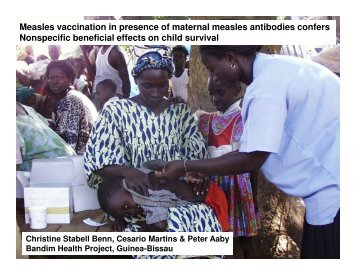 Measles vaccination in presence of maternal measles antibodies ...