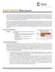 FAST FACTS Fiber Access - Calix
