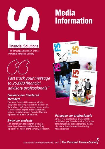 Media Information - The Personal Finance Society