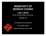 T - Carl Meyer - North Carolina State University