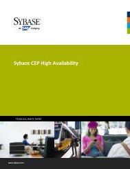 Sybase CEP High Availability
