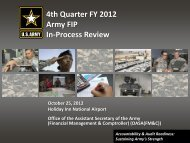4th Quarter FY 2012 Army FIP In-Process Review - ASA(FM&C ...