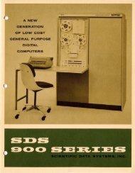 SDS 900 series, 1965 ca.