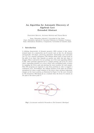 An Algorithm for Automatic Discovery of Algebraic Loci Extended ...