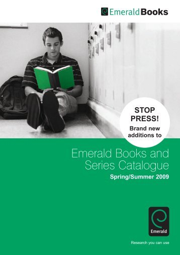 REVISED - Emerald Books Catalogue New Titles Insert