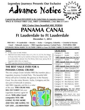 12 01 2012 MSC Poesia Panama Ca - Legendary Journeys
