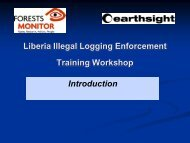 Liberia Illegal Logging Enforcement Training ... - Forests Monitor