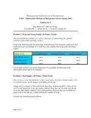 15.053 – Optimization Methods in Management Science (Spring 2007)