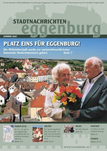 PLATZ EINS FÜR EGGENBURG! - Stadtgemeinde Eggenburg