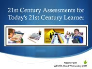 21st Century Assessments for the 21st Century Educator