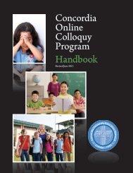 Concordia Online Colloquy Program Handbook - CUEnet