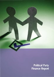 Political Party Finance Report Political Party Finance Report