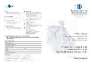 8. Zurcher Tagung EU und INT Steuerrecht 29