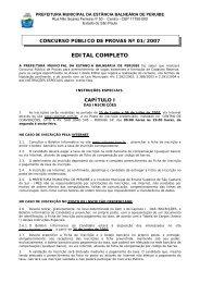EDITAL COMPLETO - Peruíbe