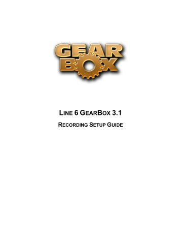GearBox 2 - Recording Setup Guide - Line 6