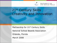 Creativity and Innovation in - The Partnership for 21st Century Skills
