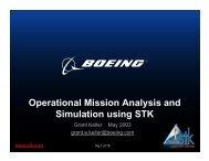 Operational Mission Analysis and Simulation using STK - AGI