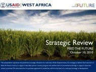 USAID West Africa Regional Mission Slide Deck - Feed the Future