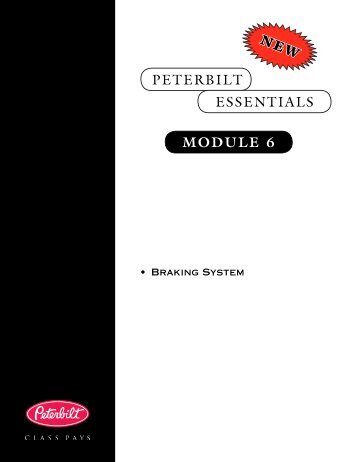 PETERBILT Module 6 ESSENTIALS NEW - Peterbilt Motors Company