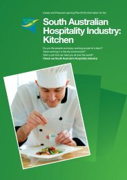 South Australian Hospitality Industry: Kitchen - FTH Skills Council