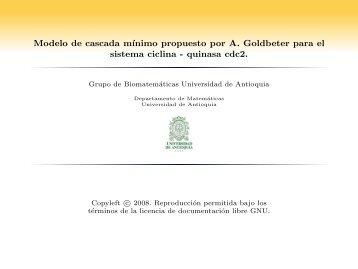 quinasa cdc2. - Departamento de Matemáticas - Universidad de ...
