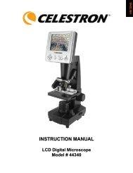 INSTRUCTION MANUAL LCD Digital Microscope Model ... - Celestron