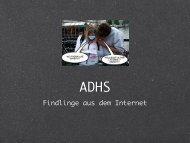 Kurze Einführung in die ADHS-Problematik - Datenkerker.de